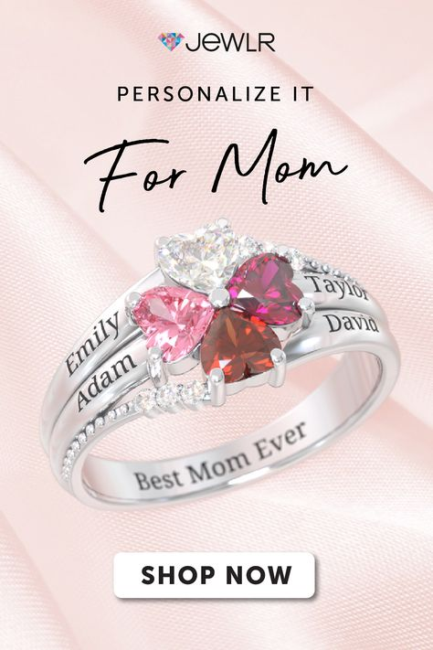 Sterling Silver Personalized Footprint Ring Birthstone Rings Custom Couple Rings Promise Rings for Her Baby Feet Name Rings Birthday Gift for Women Mom Mother Wife Mothers Day