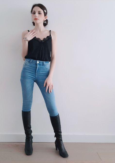 Jeans: @Primark . #fashion #style #blogger #springoutfit #springvibes #likeforlike #likeforfollow #outfitprimaverile #topconpizzo #jeansasigaretta #margherita