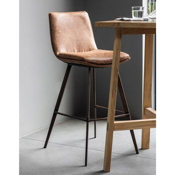 Gallery Palmer Brown Faux Leather Bar Stool 2 Pack Brown Bar
