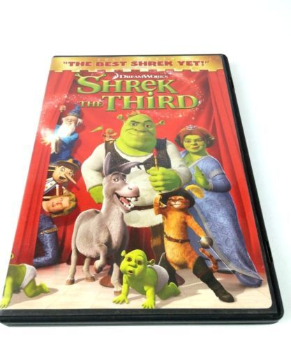 Shrek The Third Dvd 2007 Full Screen Version Shrek Dvd Ebay