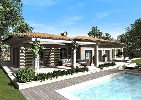 Eidomatica Rendering Villa Con Piscina Villa With Swimming Pool Exterior Rendering Villa Planimetrie Di Case Architettura Moderna Di Casa
