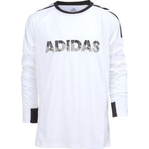 889f7b6d7 Adidas Boys' Challenger Long Sleeve Training Top (White/Black, Size X  Large) - Boy's Apparel, Boy's Soccer Tops at Academy Sports