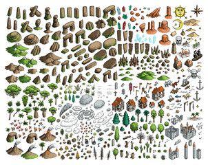 Fantasy Map Elements Illustration Drawing Engraving Ink Line Art Vector Sponsored Illustration Drawing Elements F In 2020 Fantasy Map Drawings Line Art