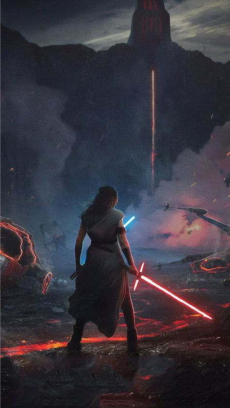 rey star wars the rise of skywalker 2019 new iPhone Wallpapers