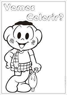 Colecao De Desenhos Da Turma Da Monica Para Colorir Monica Para