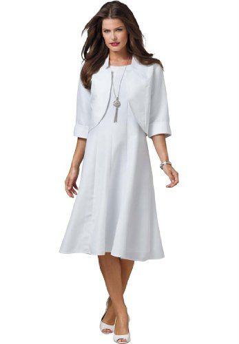 fd206c28e2 Roamans Plus Size Full Bottom Fit And Flare Jacket Dress