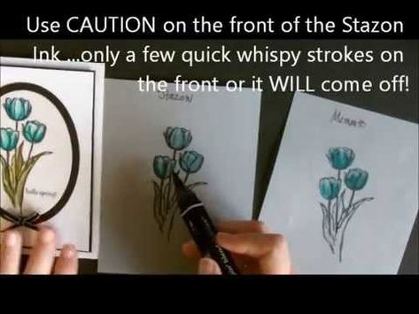 Blendabilities using White Vellum Cardstock with Deb Valder - YouTube