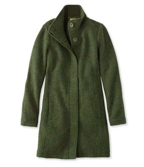 Find the best L.Bean Boiled Wool Coat at L. Our high quality Women's Outerwear and Jackets are thoughtfully designed and built to last season after season. Ll Bean, Boiled Wool Coat, Trendy Outfits, Cute Outfits, Beautiful Outfits, Work Outfits, Green Wool Coat, Green Winter Coat, Estilo Fashion