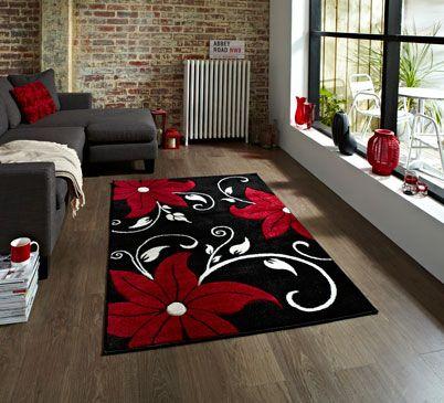 Moderner Designer Wohnzimmer Schlafzimmer Teppich Fashion Schwarz