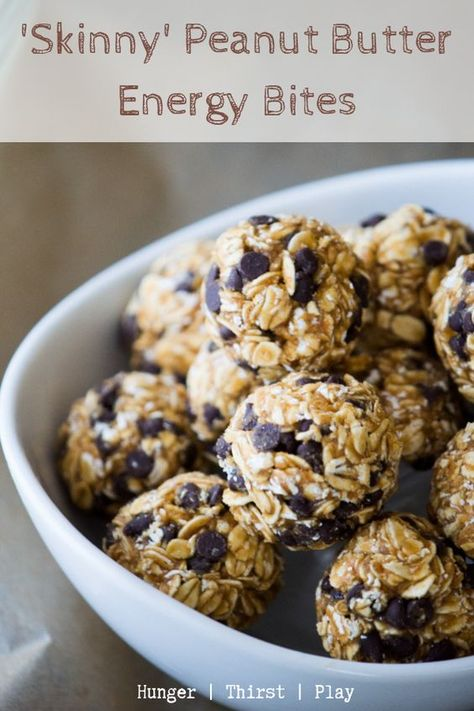 Butter Energy Bites Low calorie powdered peanut butter with heart oats, raw honey and mini chocolate chips.Low calorie powdered peanut butter with heart oats, raw honey and mini chocolate chips. Peanut Butter Energy Bites, Peanut Butter Roll, Powdered Peanut Butter, Butter Pie, Healthy Protein Snacks, Healthy Treats, High Protein, Protein Energy, Healthy Eating