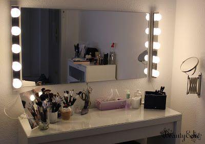 Hollywood Schminktisch Ledsjo Lampen Ikea Schminkzimmer