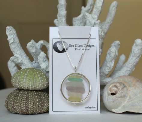Pastel sea glass necklace cairn necklace gift for wife sea image 2