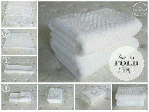 Cómo doblar toallas