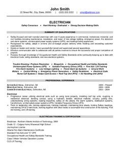 Sample Resume For Electrician Velayutham Vijay Velayuthamvijay On Pinterest