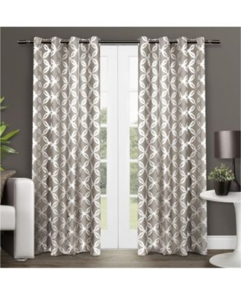 Modo Exclusive Home Metallic Geometric Grommet Top Curtain Panel