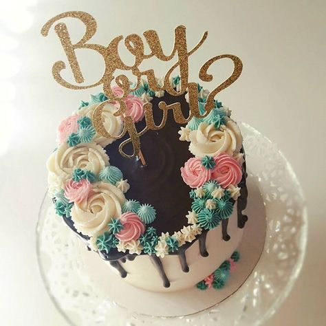 A very special Christmas day gender reveal cake for my sister-in-law! ❤