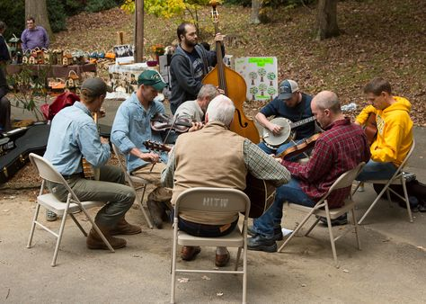 Music jamming area at the annual Boone Heritage Festival - Photo by Lonnie Webster