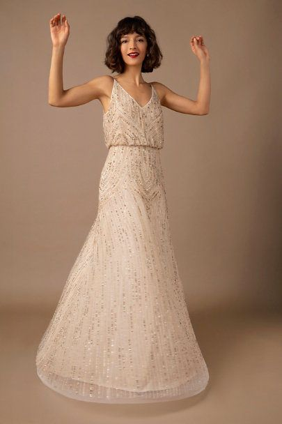 Fidelia Beaded Maxi Dress In 2020 Beaded Maxi Dress Dresses Bhldn Wedding Dress