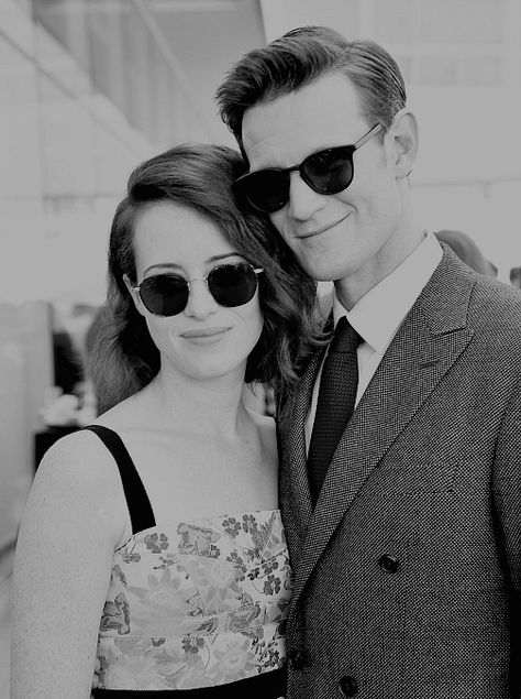 Their Majesties: Claire Foy and Matt Smith at the #emmys #baftatea