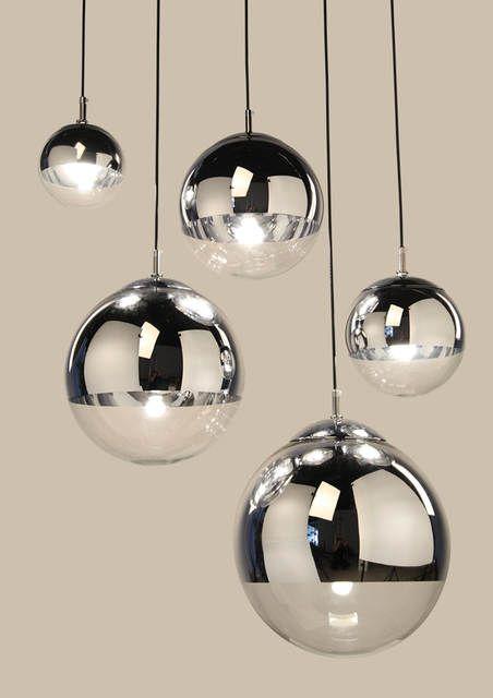 Online Shop Lukloy Modern Mirror Glass Ball Pendant Light Copper