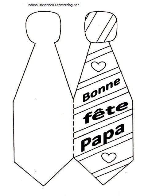 Activite Manuelle Fete Des Papas La Cravate Activite Fete