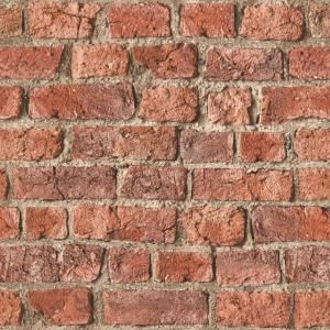 Arthouse Urban Brick Red Paper Strippable Roll Covers 57 Sq Ft 696600 The Home Depot Red Brick Wallpaper Brick Effect Wallpaper Red Brick Walls