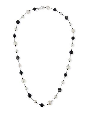 Black pearl long beads Margo