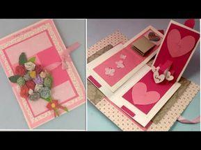 Anniversary Card For Parents Husband Diy Handmade Greeting Cards For Anniversary 3d Pop Anniversary Cards Handmade Handmade Birthday Cards Card Making Birthday