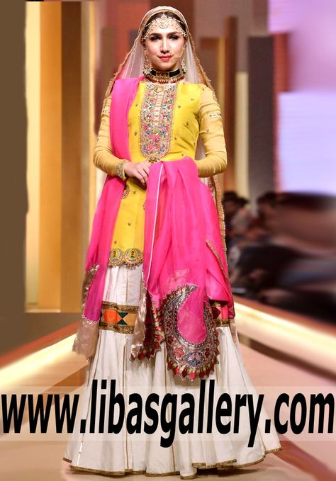 7e6998a004 Bloom with the Wedding season in this Gharara Bridal dress! We are very  happy to
