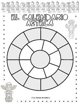 El Calendario Azteca High School Spanish Spanish Spanish Resources