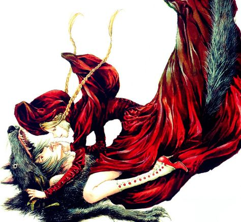 Lenore Photo: Grown-up Lenore and Ragamuffin in Little Red Riding Hood crossover