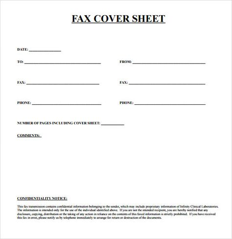 Pin by ifaxcoversheet on popular-fax-cover-sheets Pinterest - Fax Cover Sheet Free Template