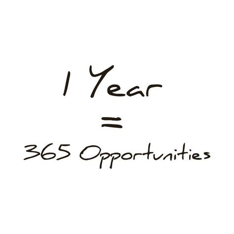 365 Opportunities in One Year Quote Vinyl Wall Art (Black)