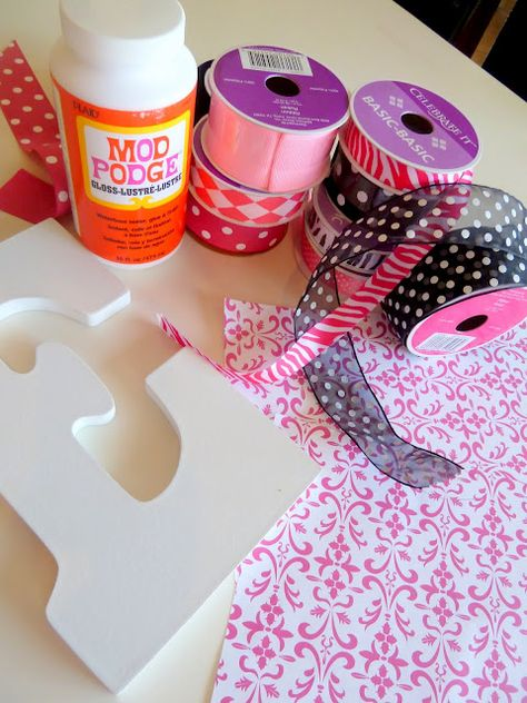 Modge podge letters .... Didn't find that post but she has a ton of fun stuff on her blog!