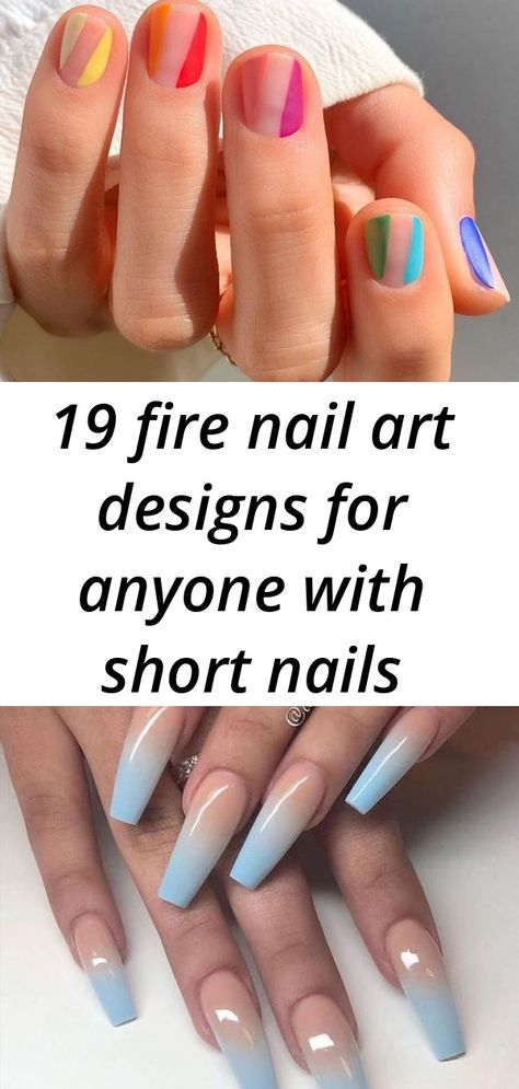 19 fire nail art designs for anyone with short nails