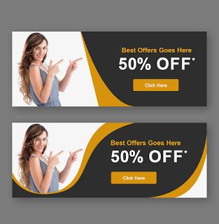 Web Banners Free Psd Download In 2021 Banner Template Web Banner Mockup Psd