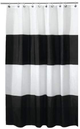 Interdesign Zeno Fabric Shower Curtain Stall 54 X 78 Black