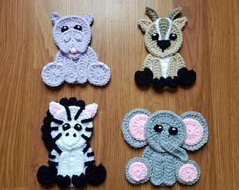 Woodland animals applique pack crochet pattern only forest