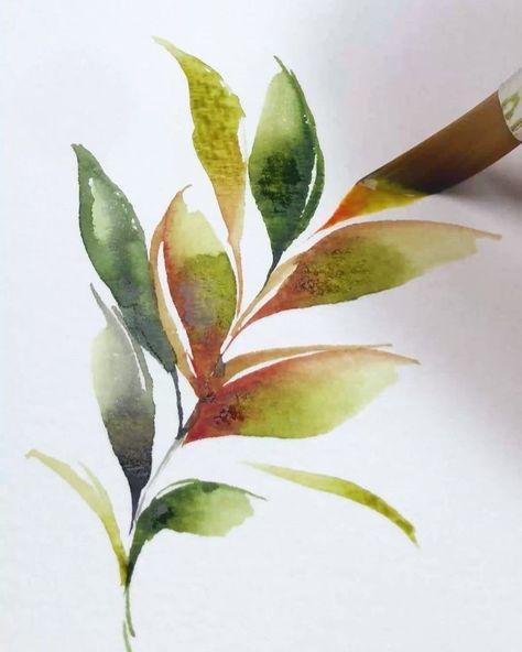 Aquarell Gefallt 84 Mal 2 Watercolor Art Painting