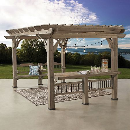 Backyard Discovery 14 X 10 Pergola With Electric Capabilities Various Colors Sam S Club In 2020 Outdoor Pergola Pergola Plans Pergola Canopy