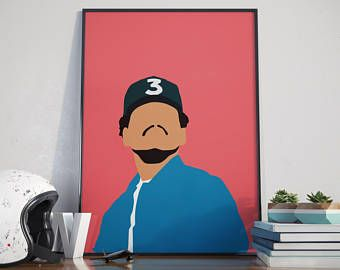 Chance The Rapper Poster Etsy Chance The Rapper Minimal Poster Dorm Art