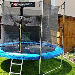 Hop Sport Gartentrampolin 244 305 366 430 490 Cm Komplettset Inkl Innennetz Leiter Wetterplane Erdanker Blau Gartentrampolin Outdoor Trampolin Trampolin