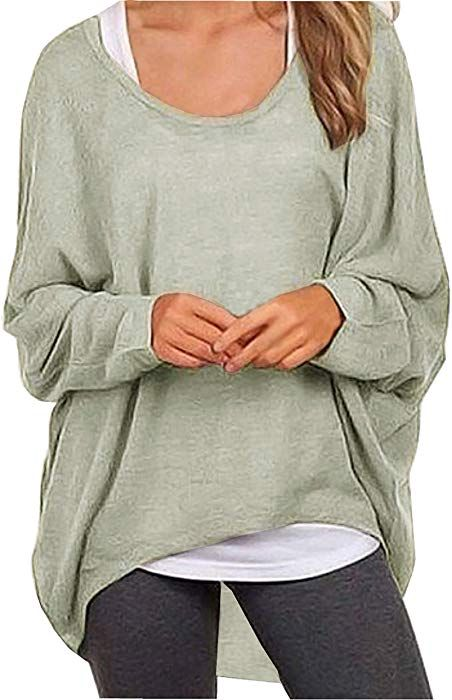 UGET Womens Sweater Casual Oversized Baggy Loose Fitting Shirts Batwing Sleeve Pullover Tops