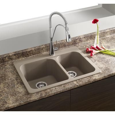Blanco Silgranit Natural Granite Composite Topmount Kitchen Sink Truffle Sop1269 Home Depot Drop In Kitchen Sink Top Mount Kitchen Sink Kitchen Remodel