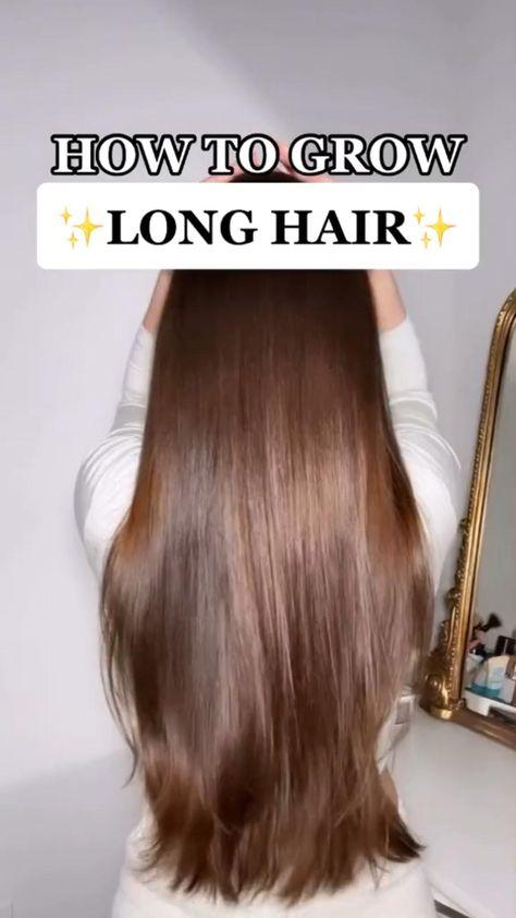 How to grow long hair ✨😘 #hairstyle #hairtutorial #longhair #hairvideos