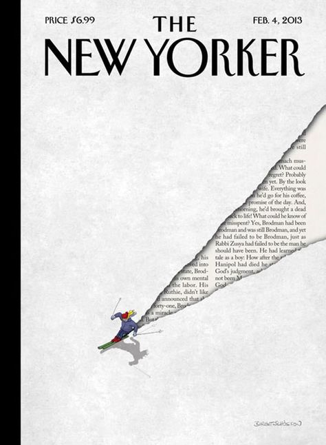 We all know what is New Yorker and its long tradition of exceptional illustrated covers. This one is simple, funny and perfectly illustrated.