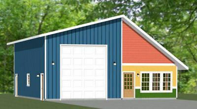 Details About 36x42 1 Rv Garage 1 Bedr 1 Bath 1 480 Sq Ft Pdf Floor Plan Model 2c In 2020 Garage Plans Shed Plans Floor Plans