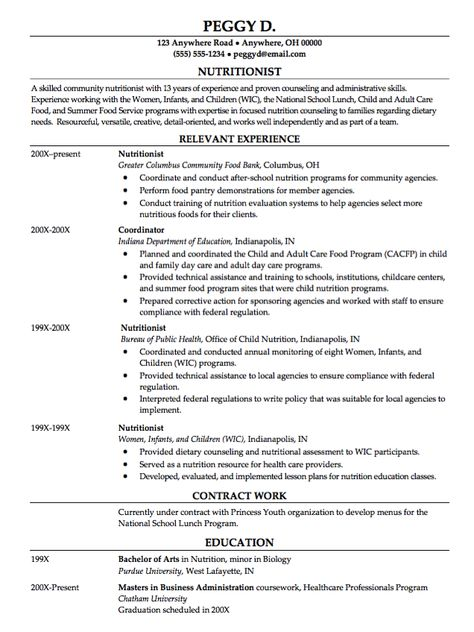 Accounting Cover Letter An Accounting Cover Letter is supplied - dietitian specialist sample resume