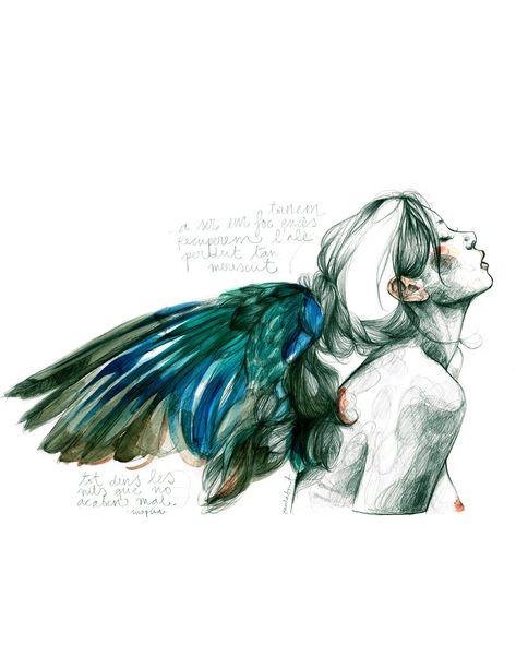 Paula Bonet, del papel al papel pintado, la sensibilidad de una ilustradora única   Ministry of Deco