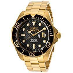 Consigue Tu Reloj Invicta Dorado Al Mejor Precio Del Mercado Calidad Y Garantía De Amazon No Te Preocu Gold Plated Watch Mens Invicta Watches Watches For Men